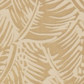 FEUILLAGE JACQUARD - OCRE CLAIR
